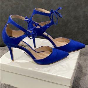 Steve Madden Royal Blue Nubuck Heels Sz 6.5